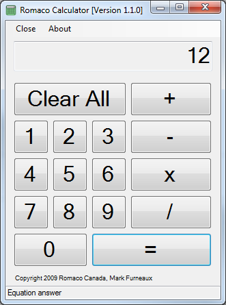 Romaco Calculator 1.1.0 full